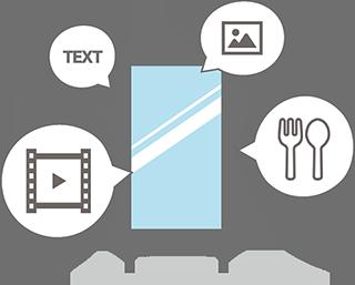 デジタルサイネージは様々な種類のコンテンツを表示できる