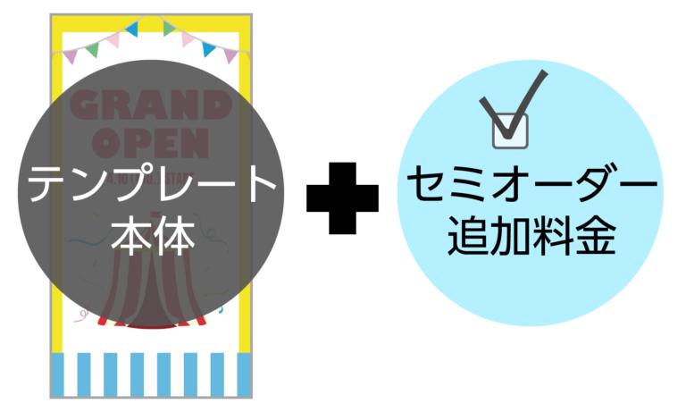 テンプレート本体+セミオーダー追加料金(6,500円税別)
