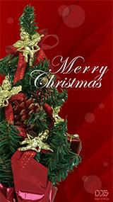 クリスマステンプレート赤