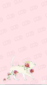 ねこ:フリーテンプレート(ピンク)