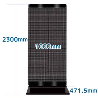 スタンド型LEDデジタルサイネージ P3.91(屋外用)